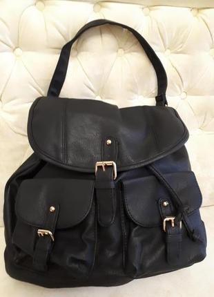 Молодежная стильная сумка в виде рюкзака atmosphere испания новая черная