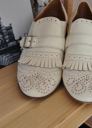 Кожаные туфли монки guja италия / шкіряні туфлі