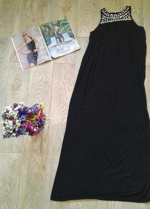 Чорне плаття в пол