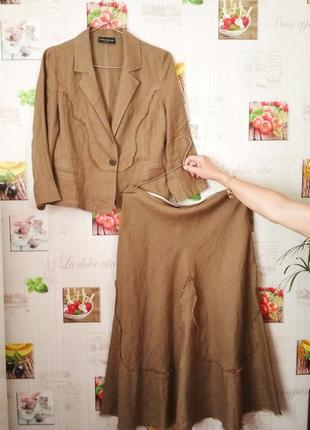 Брендовый льняной костюм james lakeland, 100% лен made in italy
