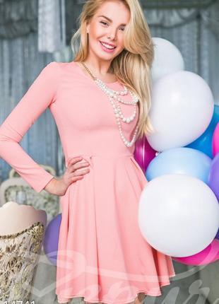 Женственное платье-клеш gepur