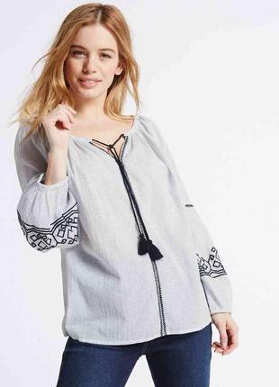 Блузка с вышивкой/вышиванка m&s