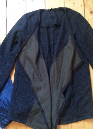 Шерстяное пальто накидка шерсть