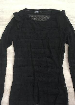 Кружевная блуза топ bershka