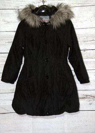 Крутая осенняя куртка парка на девочку