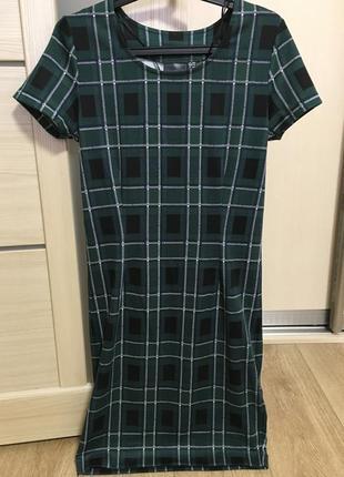 Платье клетка bonprix