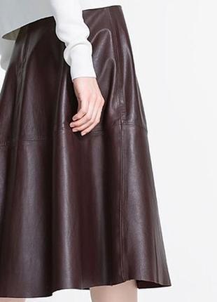 Купи и получи приятный бонус: кожаная юбка ассиметричного кроя(германия)