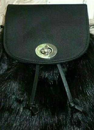 Рюкзак женский модный сумка из меха