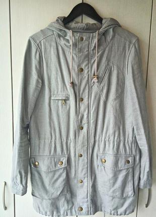 Льняная куртка massimo dutti