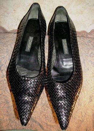 Туфли hobbs кожаные чёрные