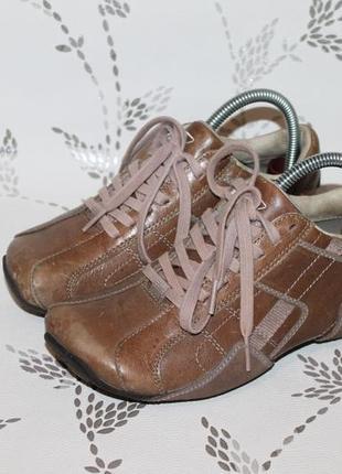 Кожаные кроссовки кэжуал diesel 35,5 размер 23 см стелька