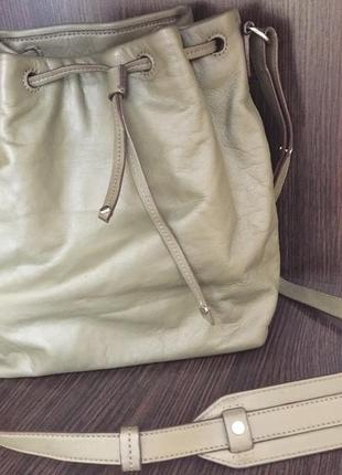 Кожаная сумка banana republic