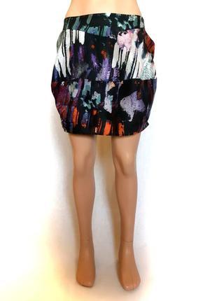 Оригинальная шелковая юбка-тюльпан
