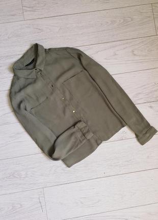 Шифоновая рубашка ,блуза хаки