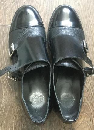 Закрытые туфли лоферы оксфорды монки итальянского бренда lorenzo