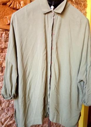 Рубашка 100% натуральная вискоза,asos oversize