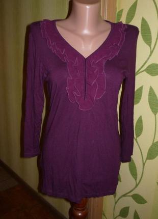 Красивая блуза с рюшами р.42/44 кофта, блузка