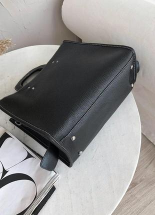 Черная сумка кросс боди4 фото
