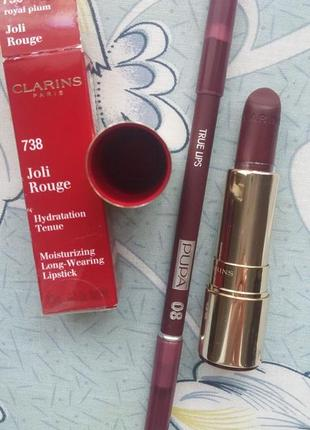 Карандаш pupa true lips оттенок 08 помада clarins joli rouge 738 royal plum из брокара
