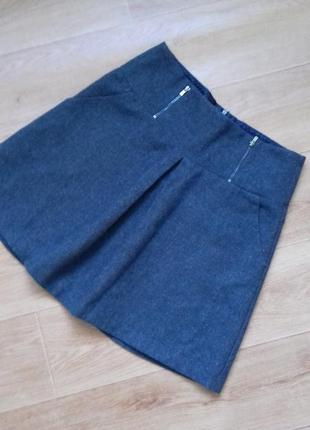 Шерстянная теплая юбка