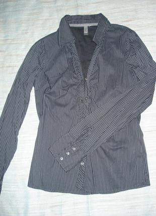 Стильная стальная рубашка only, р.10 - 12