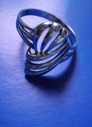 Уникальное серебряное кольцо, перстень, серебро 925 проба, р.22