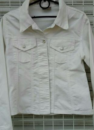 Куртка женская richmond котоновая белая размер s