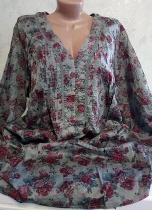 Блуза натуральная большой размер ulla popken
