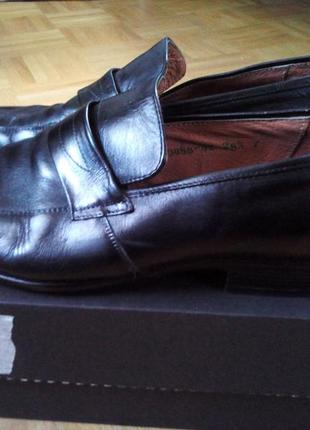 Кожаные югославские туфли. 41размер