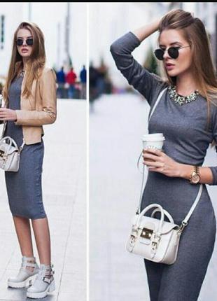 Базовое платье миди h&m