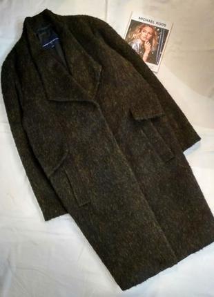 Мега крутое oversize ,бойфренд пальто осень-весна 37% шерсть и 14% альпака( лама).