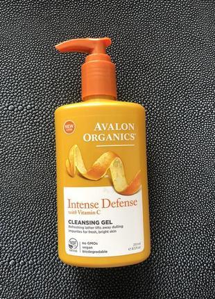 Гель для умывания avalon organic c витамином с