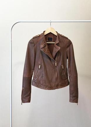 Куртка 100% кожа zara