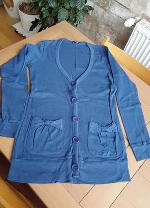 Terranova кардиган на пуговицах синего цвета