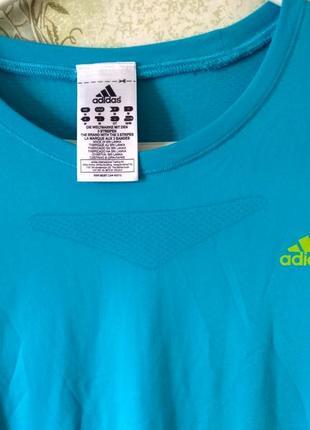 Бирюзовая спортивная кофта adidas