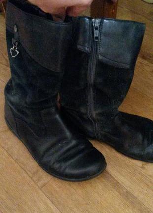 Шикарнейшие осенние кожаные сапожки clarks ( по стельке 21см( есть ньюанс))