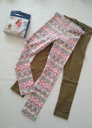Лосины легенсы штаны для девочки 4-6лет. упаковка 2шт.
