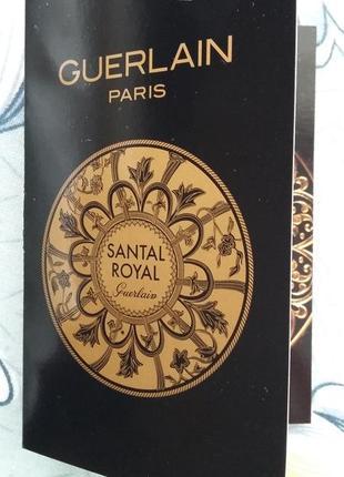 Пробник парфюмерии guerlain santal royal eau de parfum новый