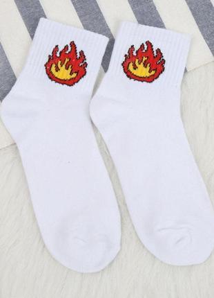Прикольные стильные носки огонь