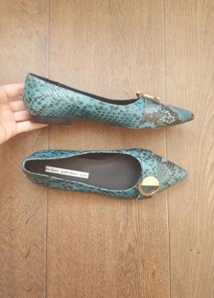 Новые other stories кожаные туфли балетки 35 36 размер на низком ходу