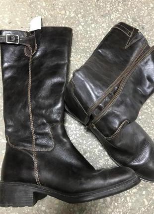 Классические кожаные утепленные сапоги vander lann