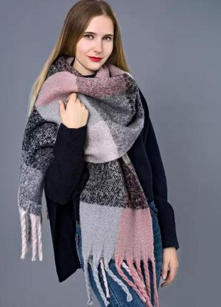 Тёплый шарф платок