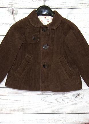 Модное вельветовое пальто трапеция для девочки