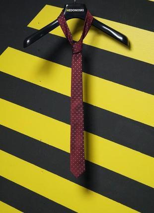 Зауженный галстук в мелкий горох