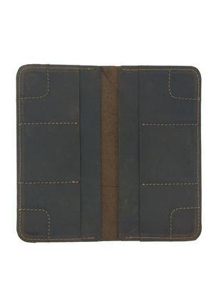 Портмоне кошелек на магнитах коричневый six