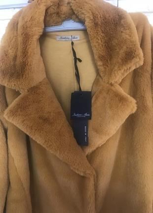 Шубка-пальто з італійського штучного хутра ❤️❤️❤️ розмір оверсайз)
