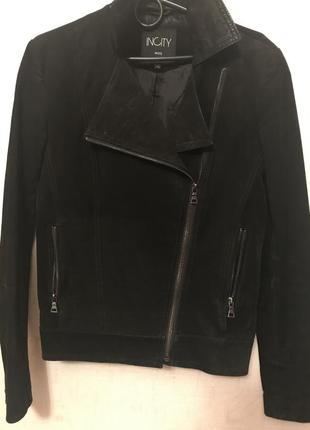 Суперова куртка косуха, натуральна замша