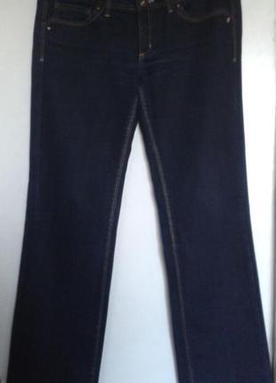 Джинсы темно синие mng jeans mango