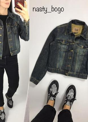 Джинсовка винтаж оверсайз куртка джинсовая
