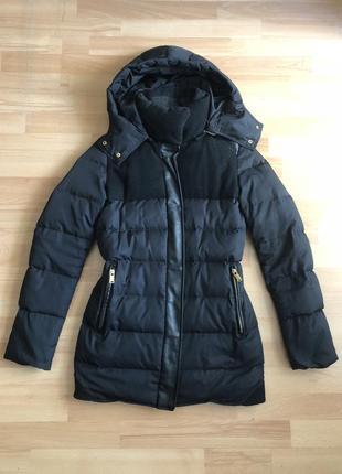 Стильное тёплое куртка пальто zara пуховик